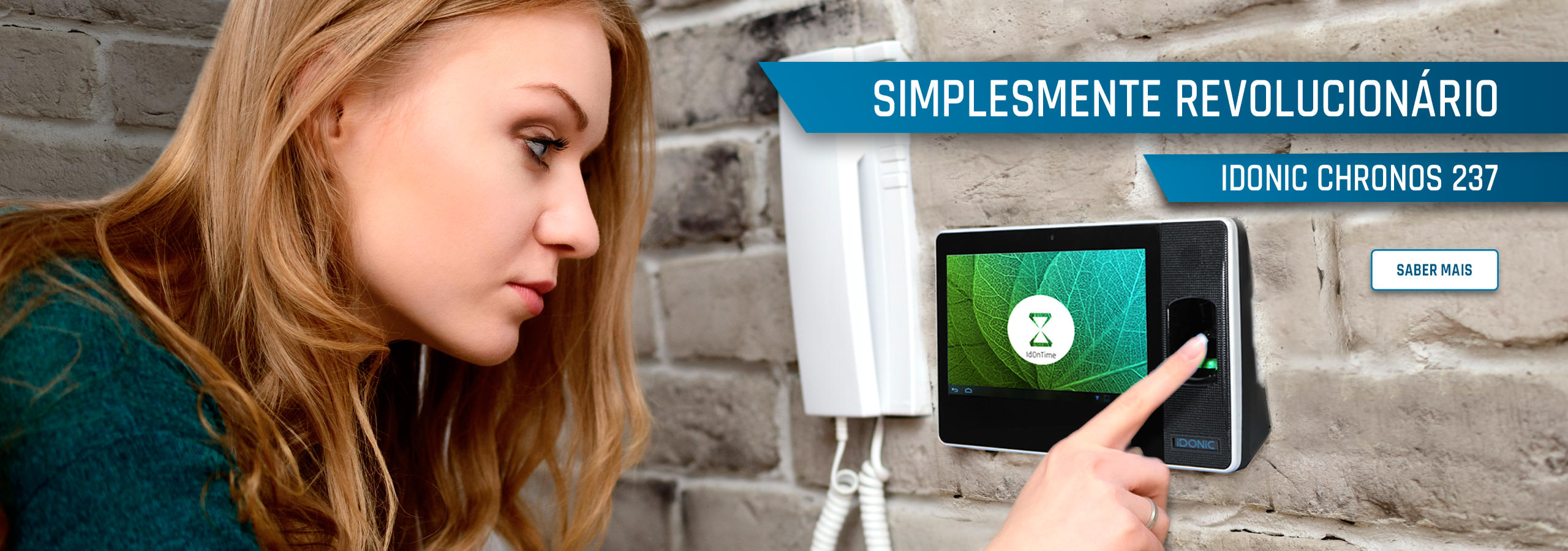 Relógio de Ponto Biométrico com Leitura da Impressão Digital e Cartão de Ponto RFID - IDONIC CHRONOS 237